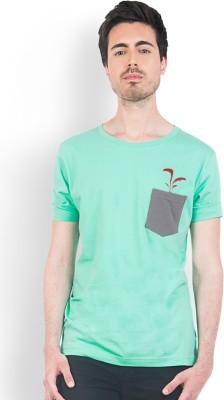 Do U Speak Green Printed Men's Round Neck Green T-Shirt