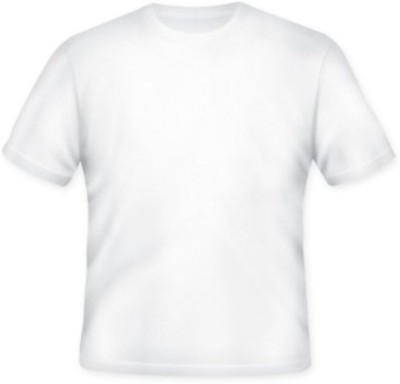 Lnh Creations Solid Men's Round Neck White T-Shirt