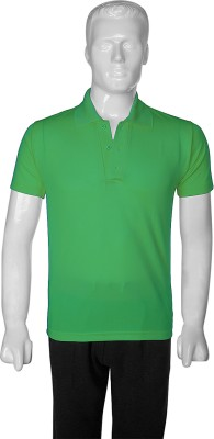 SelfieSeven Solid Men's Polo Light Green T-Shirt