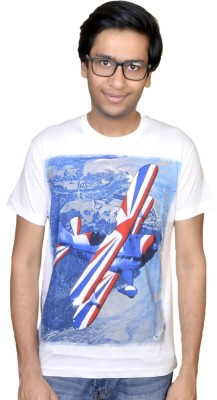 Inez Printed Men's Round Neck T-Shirt