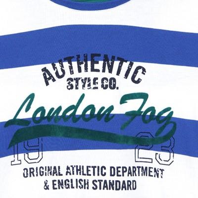 London Fog Kids Striped Boy,s Round Neck T-Shirt