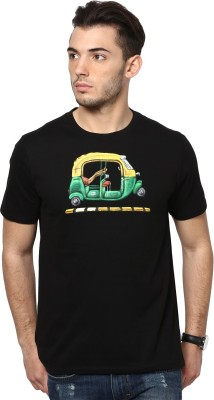 Maati Self Design Men's Round Neck T-Shirt