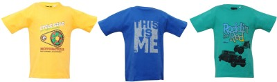 Mintees Graphic Print Boy's Round Neck T-Shirt