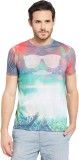 Garcon Printed Men's Round Neck Grey T-S...