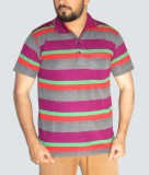 GouGas Striped Men's Polo Neck Multicolo...
