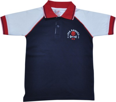 BG Casuals Solid Boy's Polo Neck T-Shirt