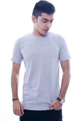 Urban Flux Solid Men's Round Neck Grey T-Shirt