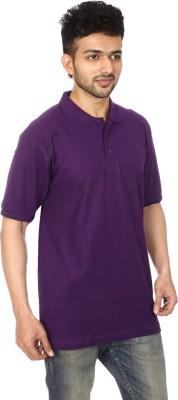 Lyril Solid Men's Polo Purple T-Shirt