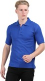 Stylefox Solid Men's Polo Neck Blue T-Sh...