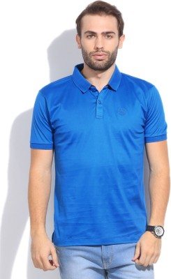 Arrow Sport Solid Men's Polo Blue T-Shirt