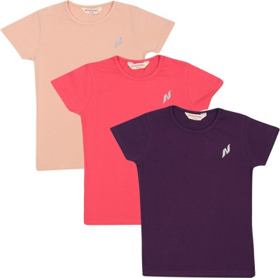 Next Steps Solid Girl's Round Neck T-Shirt