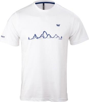 Wildcraft Graphic Print Men's Round Neck White T-Shirt