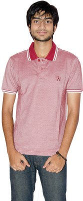 27Ashwood Solid Men's Polo Red, White T-Shirt