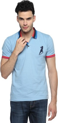 Swing9 Embroidered Men's Polo Neck Light Blue T-Shirt