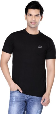 Always & Forever Solid Men's Round Neck Black T-Shirt