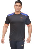 Color Castle Solid Men's Round Neck Blac...