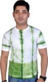 MC Printed Men's Round Neck Green, White...