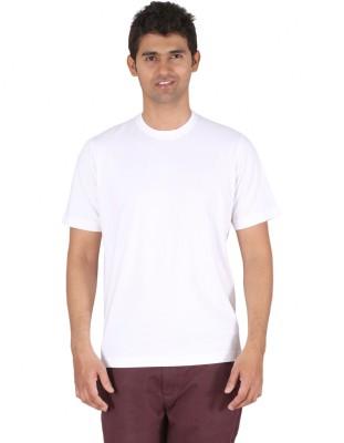 Furore Solid Men's Round Neck White T-Shirt