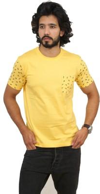 men in class Printed Men's Fashion Neck Yellow T-Shirt
