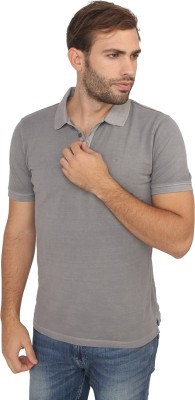 Calvin Klein Solid Men's Polo Neck Grey T-Shirt