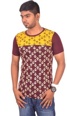 Rogue Printed Men's Round Neck Maroon T-Shirt