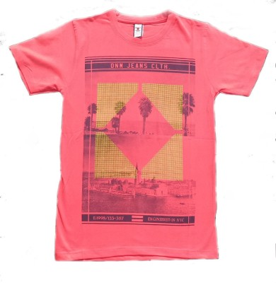 Victor & Rolf Graphic Print Men's Round Neck Red T-Shirt