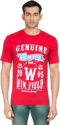 Winfield Printed Men's Round Neck Red T-Shirt