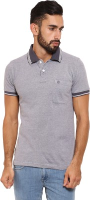 Classic Polo Solid Men's Polo Neck Grey T-Shirt