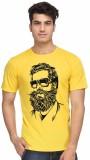 Sukhi Aatma Printed Men's Round Neck Yel...