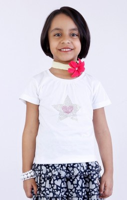 Milou Printed Girl's Round Neck T-Shirt