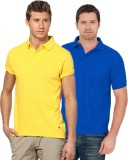 Concepts Solid Men's Polo Neck Yellow, B...