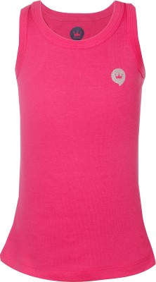 Vitamins Solid Girl's Round Neck Pink T-Shirt