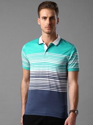 INVICTUS Striped Men's Polo Neck Blue T-Shirt