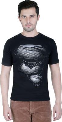 Yuva Printed Men's Round Neck Black T-Shirt