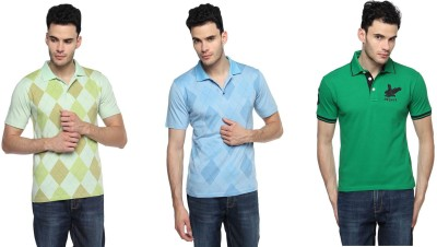Swing9 Printed Men's Polo Neck T-Shirt