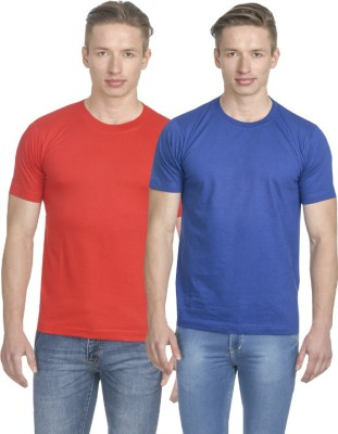 Fundoo-T Solid Men's Round Neck Multicolor T-Shirt