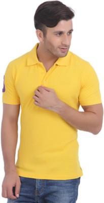 Jura Polo Solid Men's Polo Neck Reversible Yellow T-Shirt