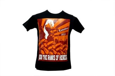 Contablue Graphic Print Men's Round Neck Black T-Shirt