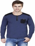 Righardi Solid Men's Round Neck Blue, Bl...