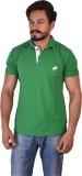 Kapeur Solid Men's Polo Neck Green T-Shi...