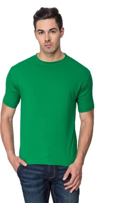 Sulpher Solid Men's Round Neck Green T-Shirt