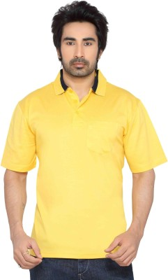 Thinc Solid Men's Polo Neck Yellow T-Shirt