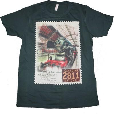 CLICKPURCH Printed Men's Round Neck Green T-Shirt