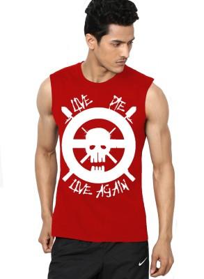 l,appel Du Vide Solid Men's Round Neck T-Shirt