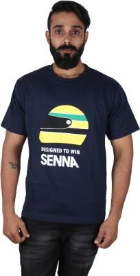 Pickled Merchandise Graphic Print Men's Round Neck Dark Blue T-Shirt