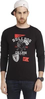 Cali Republic Printed Men's Round Neck Black, Grey, Red T-Shirt