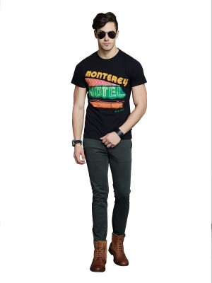 Route 66 Printed Men's Round Neck T-Shirt