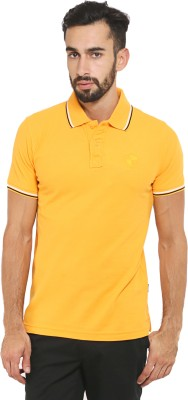 Classic Polo Solid Men's Polo Neck Yellow T-Shirt
