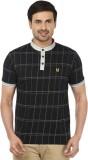 Ruse Solid Men's V-neck Black T-Shirt