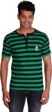 Right Shape Striped Men's Henley Green, ...